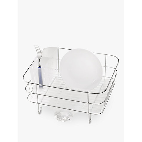 simplehuman dish rack buy simplehuman compact dish drainer stainless steel 28909