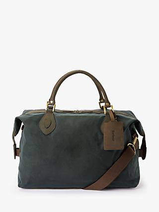 Barbour Wax Cotton Travel Explorer Holdall