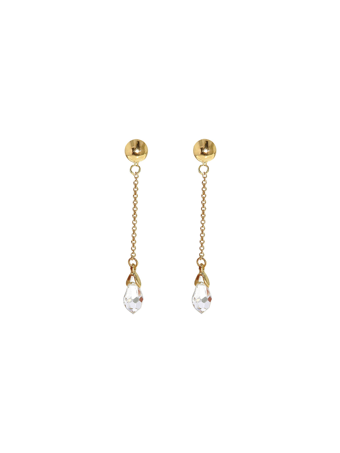 Finesse Swarovski Crystal Chain Drop Clip On Earrings Gold Clear Online At Johnlewis