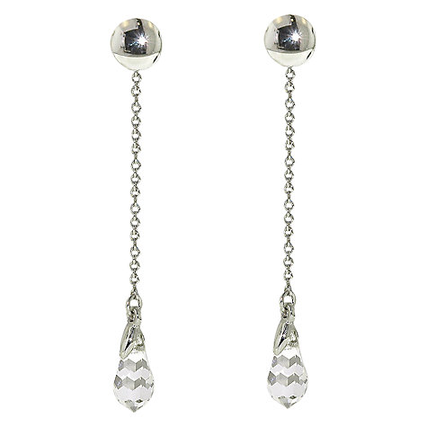 Buy Finesse Swarovski Crystal Chain Drop Clip-On Earrings Online at johnlewis.com