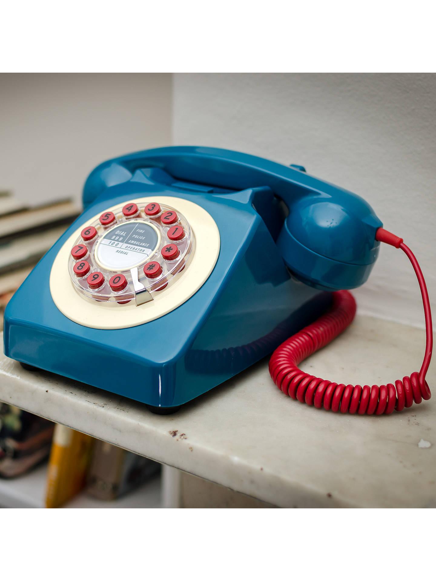 Wild & Wolf 746 1960s Corded Telephone, Petrol