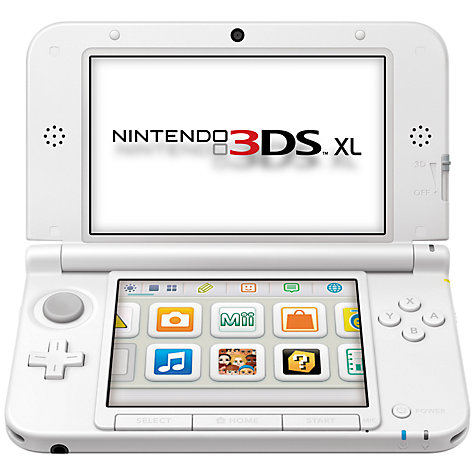 Buy Nintendo 3DS XL, White with Mario Kart 7, Rayman Origins and Plush Mario Keyring Online at johnlewis.com