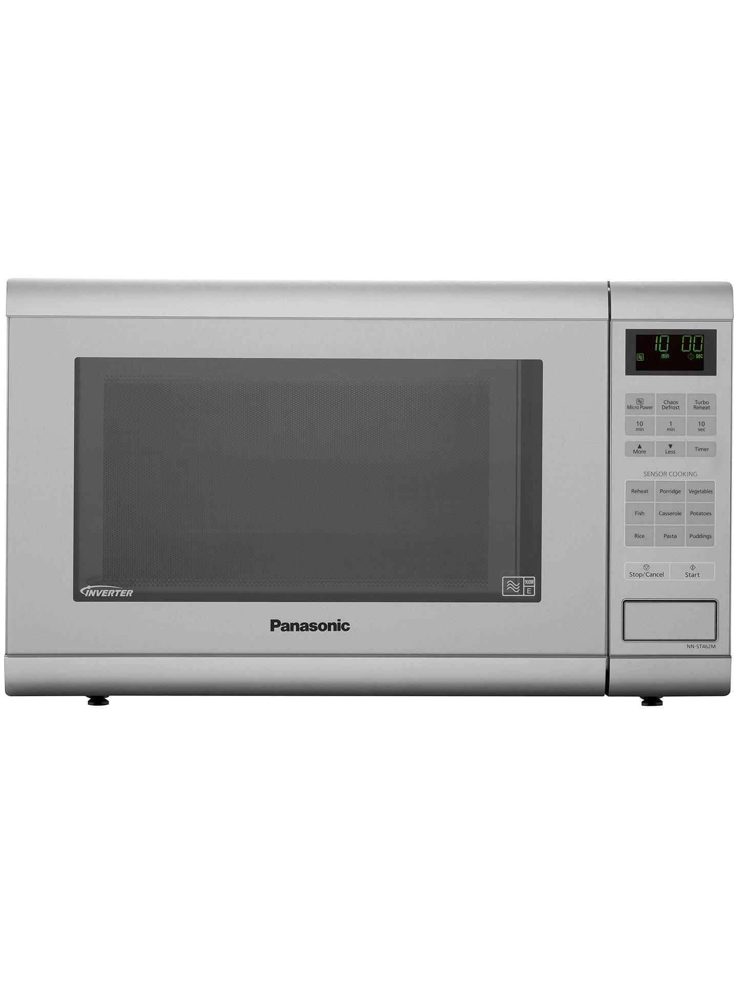 Panasonic NN-ST462MBPQ Microwave, Silver at John Lewis ...