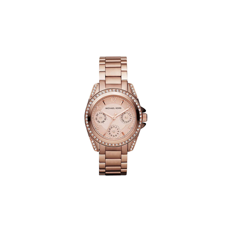 Michael Kors Mk5613 Women S Diamante Embellished Single Chronograph Bracelet Strap Watch Rose Gold Online At