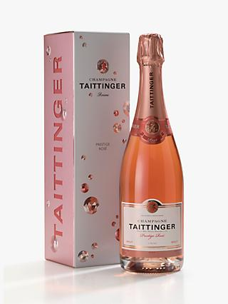 Taittinger Hollographic Rosé Champagne Gift Box, 75cl