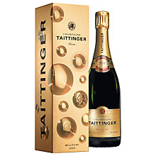 Buy Taittinger Vintage Champagne Gift Box, 75cl Online at johnlewis.com