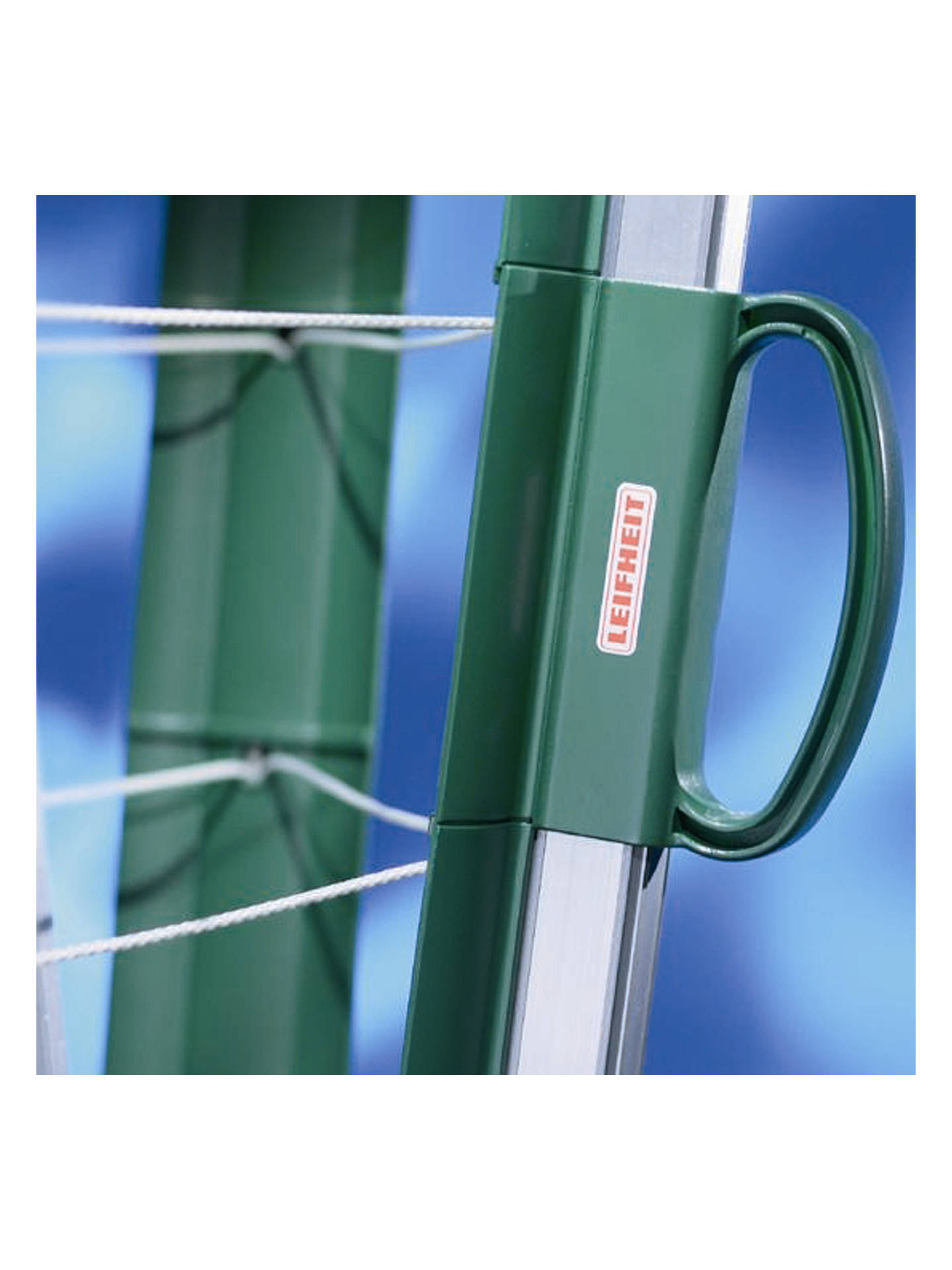Buy Leifheit Linomatic Plus 500 Outdoor Rotary Clothes Airer Washing Line, Green Online at johnlewis.com