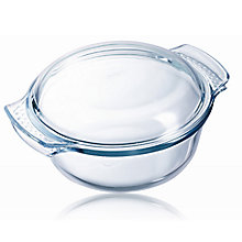 Buy Pyrex Easy Grip Glass Round Casserole Oven Dish, 2.1L Online at johnlewis.com