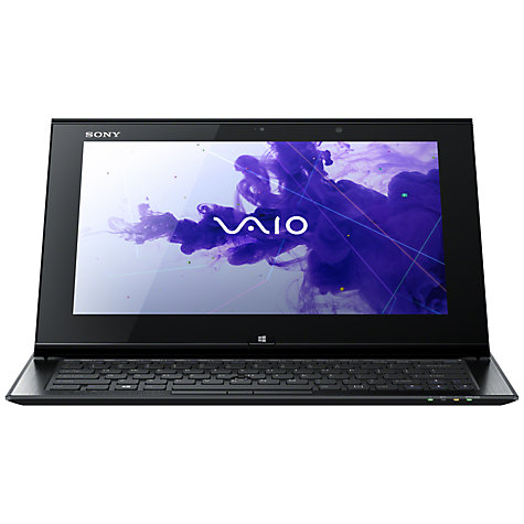"Buy Sony Vaio Duo SVD1121Q2EB Convertible Ultrabook, Intel Core i5, 1.7GHz, 4GB RAM, 128GB SSD, 11.6"" Touch Screen, Black Online at johnlewis.com"