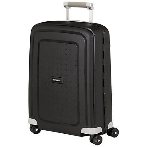 Buy samsonite s 39 cure 4 wheel 55cm cabin suitcase john lewis for Samsonite cabin luggage