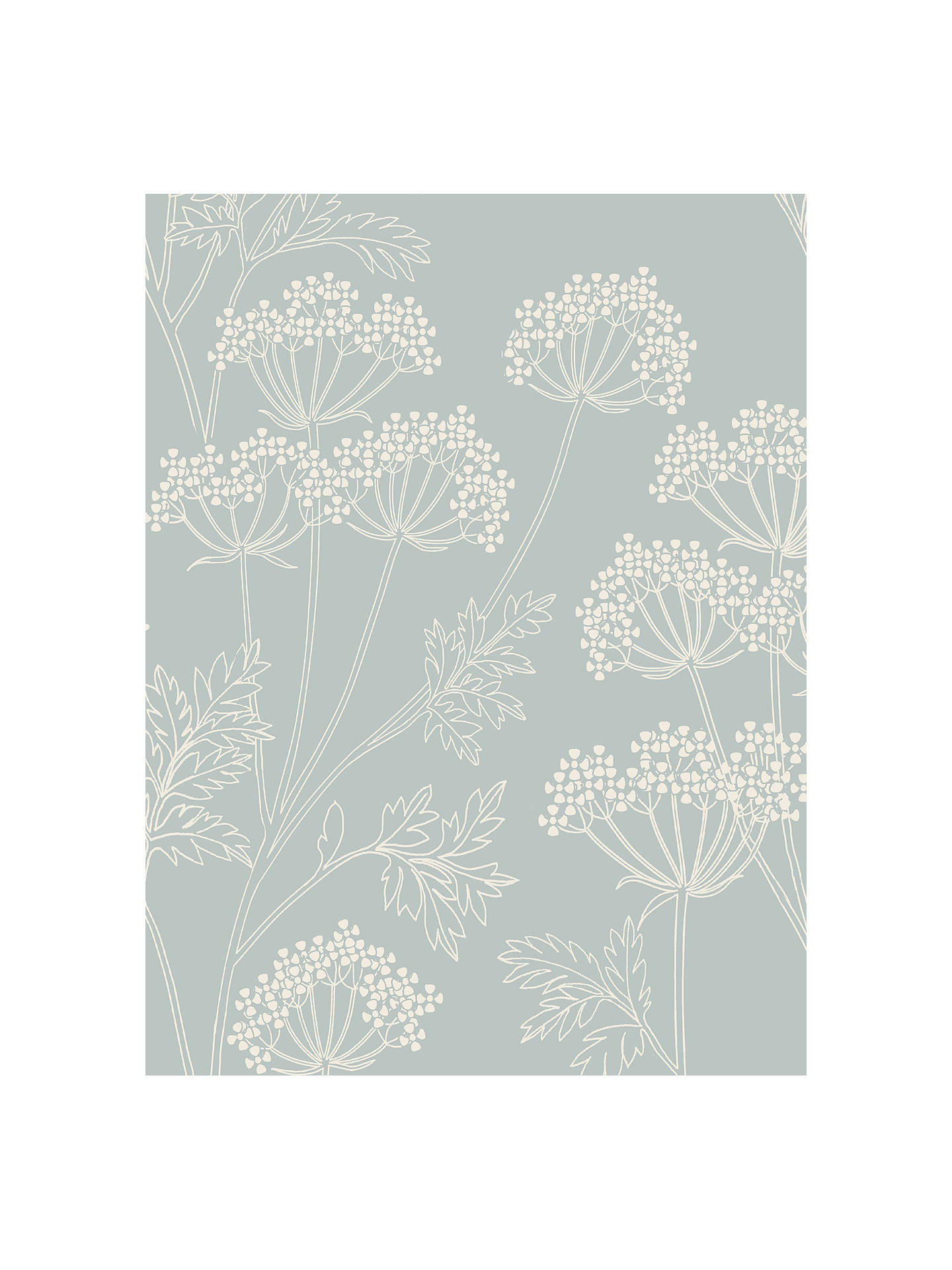 Buy John Lewis & Partners Cow Parsley Wallpaper, Mineral Online at johnlewis.com