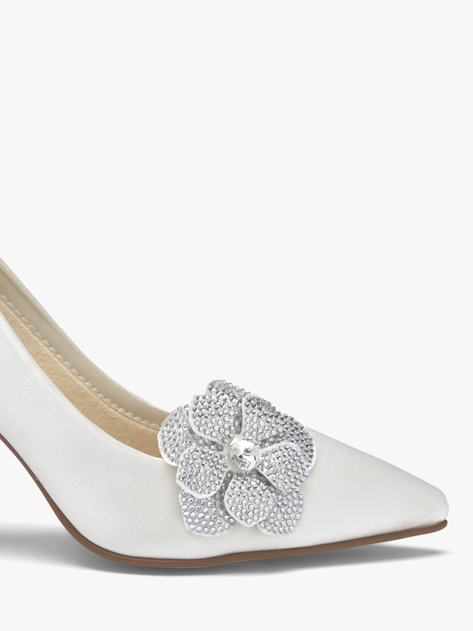 Rainbow Club Rainbow Club Vela Diamanté Flower Shoe Bows, Ivory