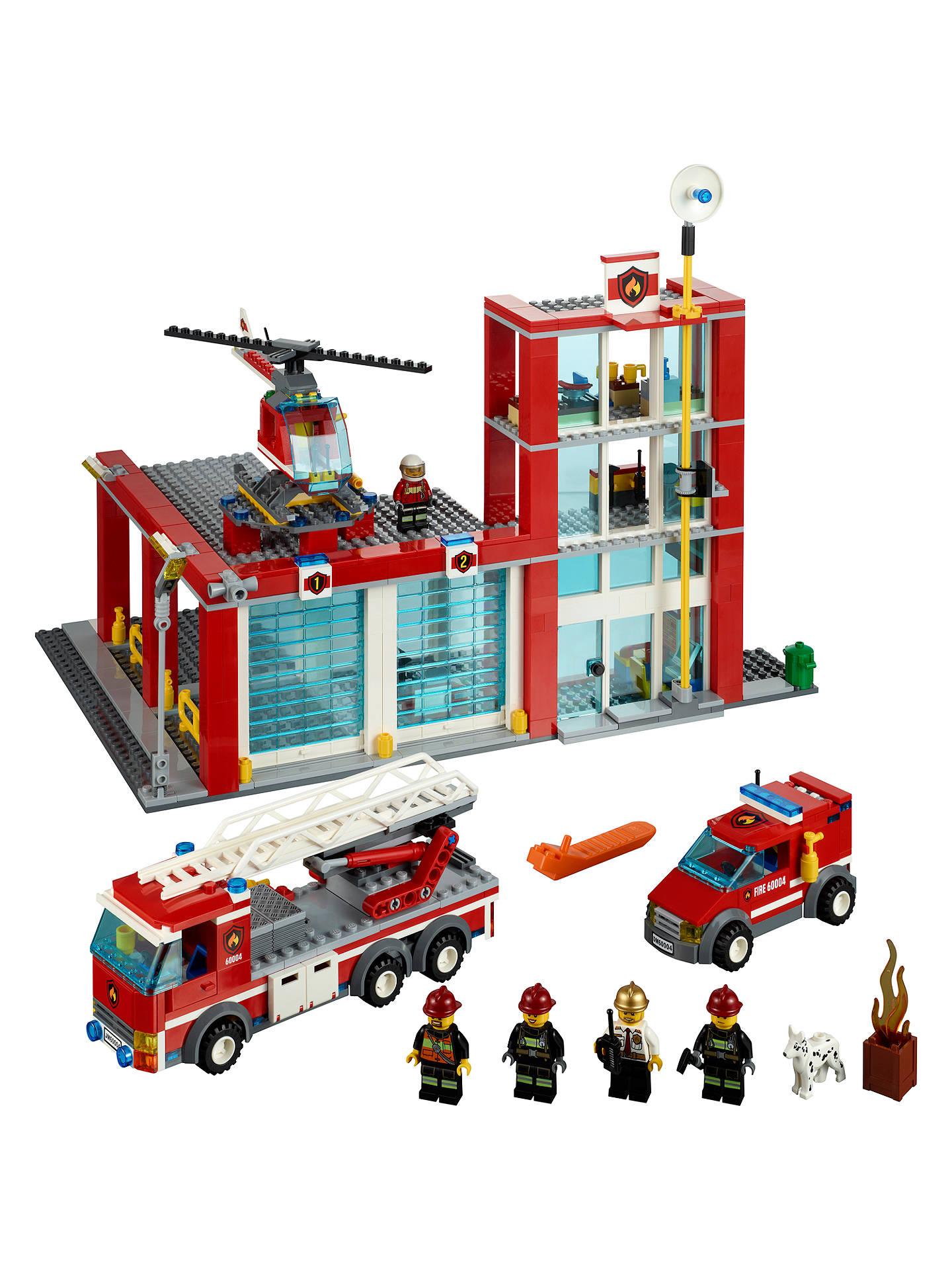 lego city fire station at john lewis partners. Black Bedroom Furniture Sets. Home Design Ideas