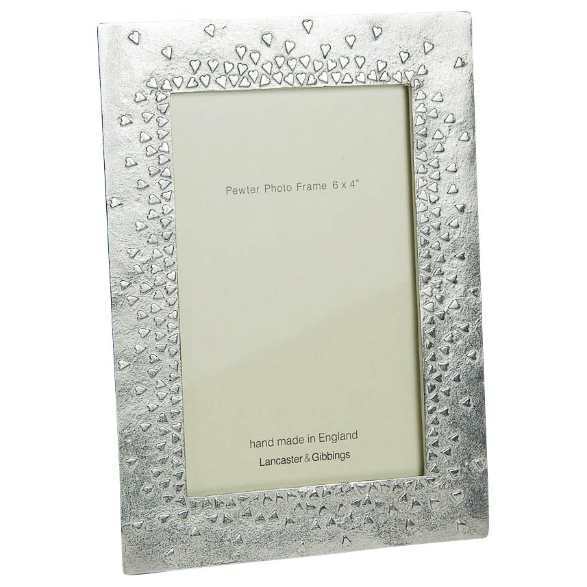 Lancaster and Gibbings Lancaster and Gibbings Floating Hearts Photo Frame, Pewter
