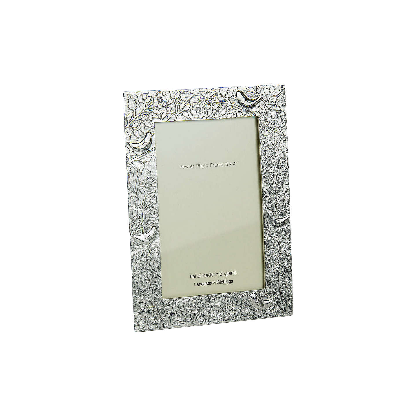 "BuyLancaster and Gibbings Pewter Birds Photo Frame, 4 x 6"" (10 x 15cm) Online at johnlewis.com"