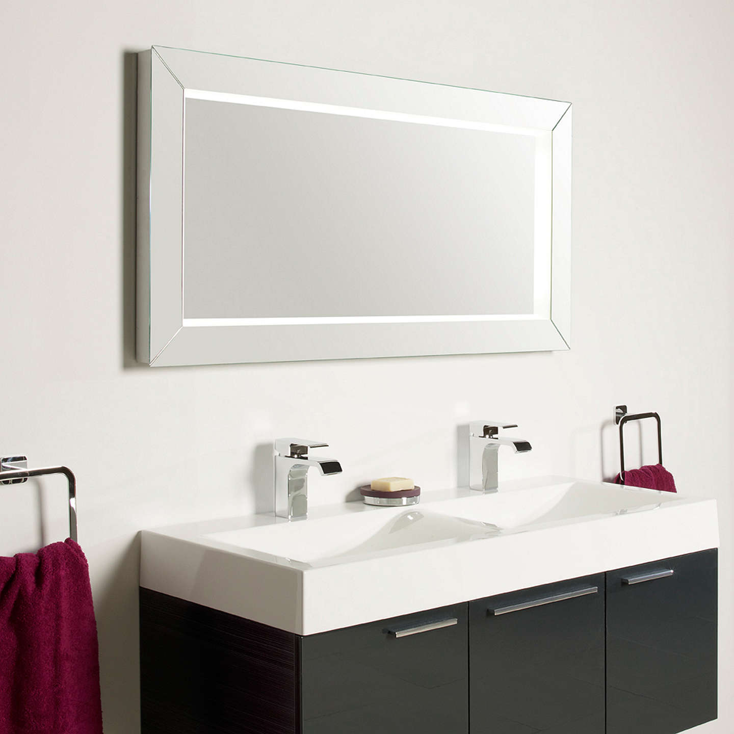 roper rhodes affinity illuminated bathroom mirror at john. Black Bedroom Furniture Sets. Home Design Ideas