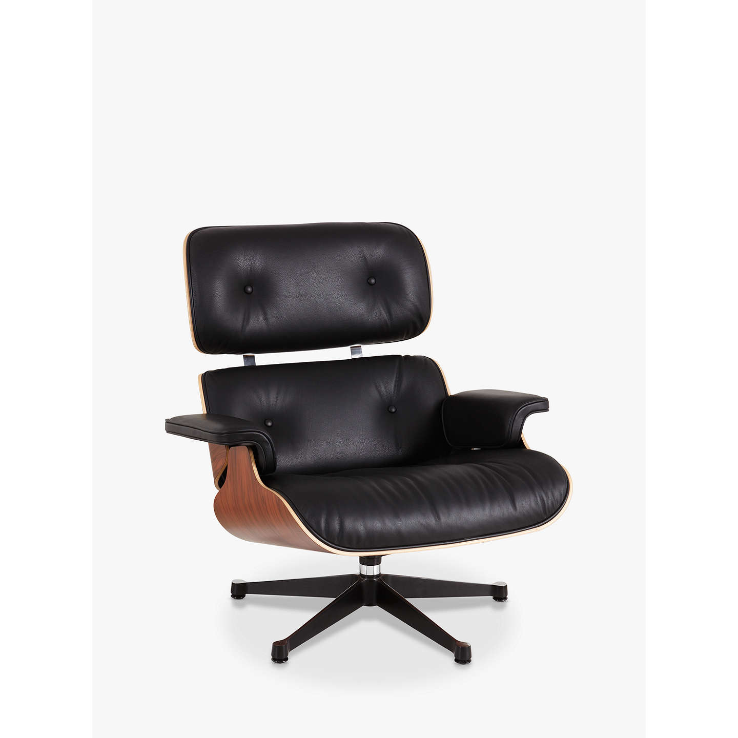 BuyVitra Eames Lounge Armchair, Black/ Pallisander Shell Online at johnlewis.com