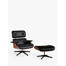 Buy Vitra Eames Lounge Armchair + Ottoman, Black/Pallisander Online at johnlewis.com