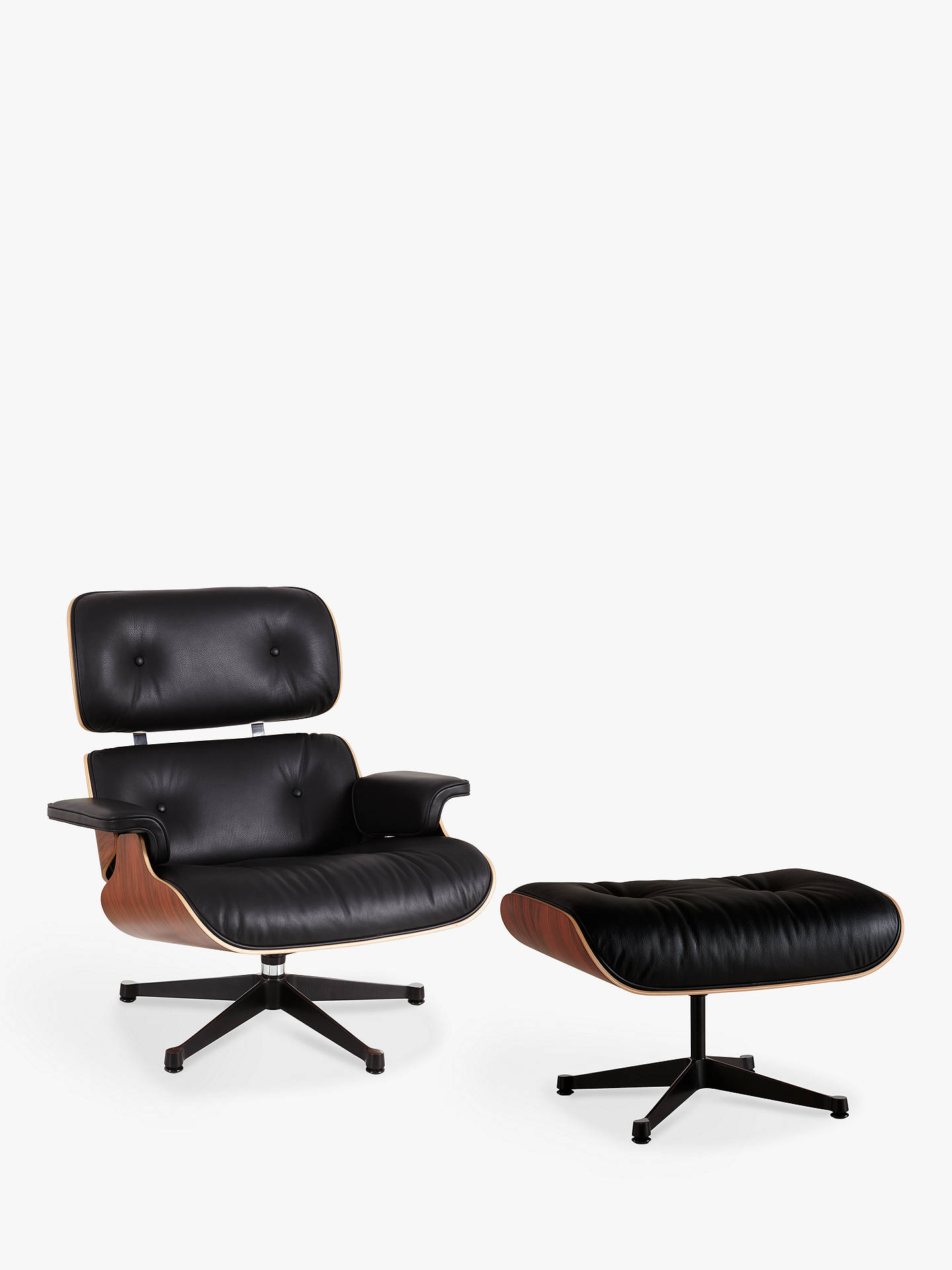 Astounding Vitra Eames Lounge Armchair Ottoman Black Pallisander Short Links Chair Design For Home Short Linksinfo