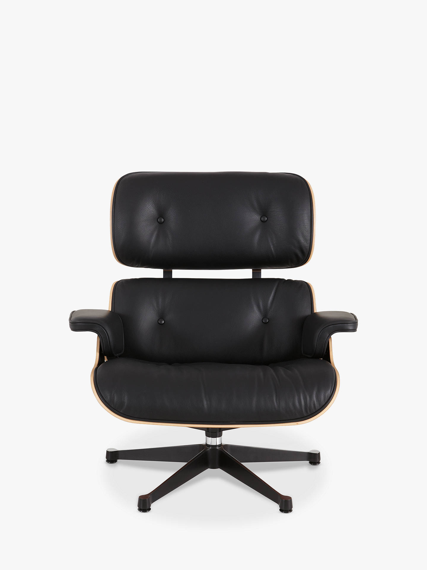 BuyVitra Eames Lounge Armchair, Black/ Pallisander Shell Online At  Johnlewis.com ...
