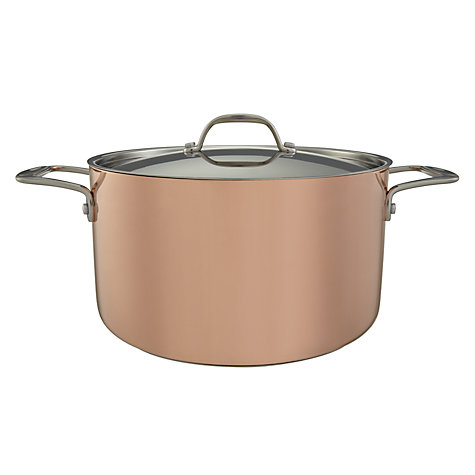Buy John Lewis Copper 24cm Casserole Dish Online at johnlewis.com
