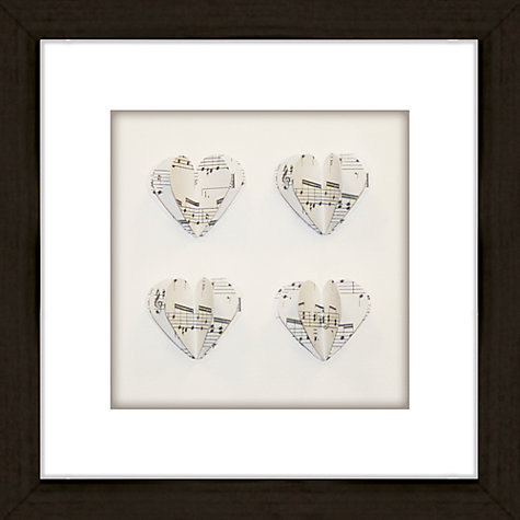 Buy Daisy Maison Hearts Music Framed 3D Laser Cut, 25.5 x 25.5cm Online at johnlewis.com