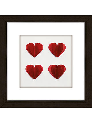 Buy Daisy Maison Hearts Red Framed 3D Laser Cut, 25.5 x 25.5cm Online at johnlewis.com
