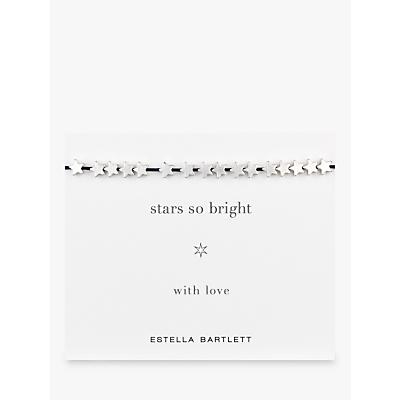 Estella Bartlett Star So Bright Silver Plated Adjustable Cord Friendship Bracelet, Navy