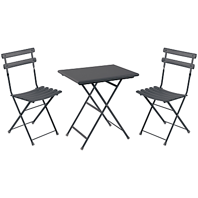 EMU Arc En Ciel Steel Garden Bistro Table and Chairs Set