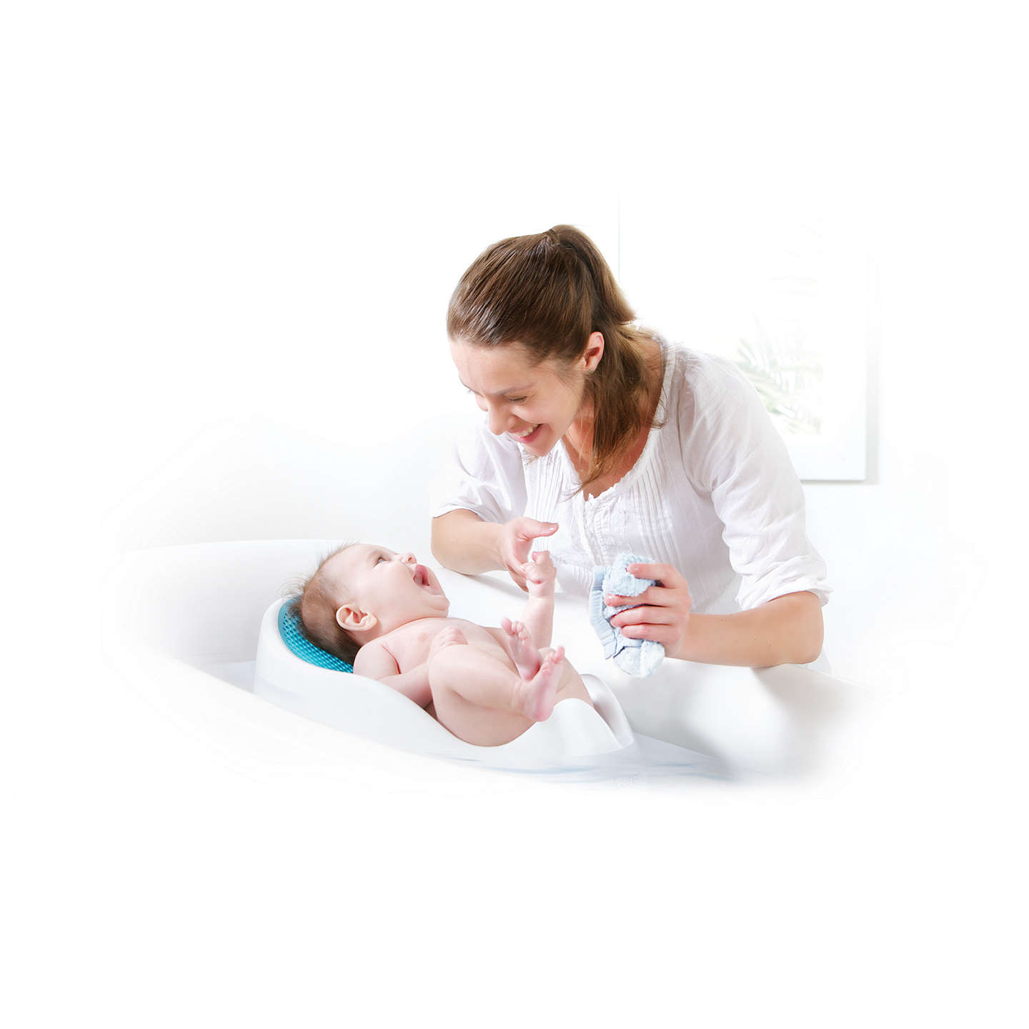 BuyAngelcare Soft Baby Bath Support, Blue Online at johnlewis.com