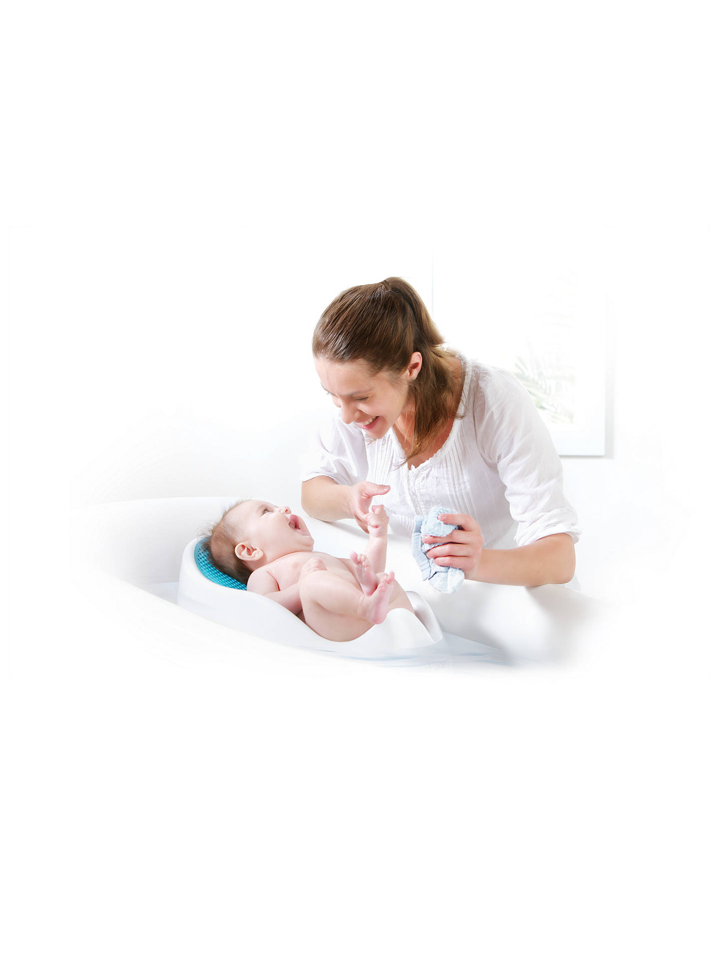 Buy Angelcare Soft Baby Bath Support, Blue Online at johnlewis.com