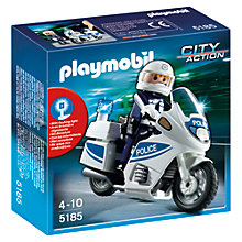 Buy Playmobil City Action Police Motorbike Online at johnlewis.com