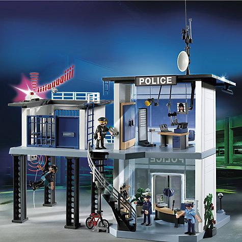 Buy playmobil city action police station john lewis - Caserne de police playmobil ...
