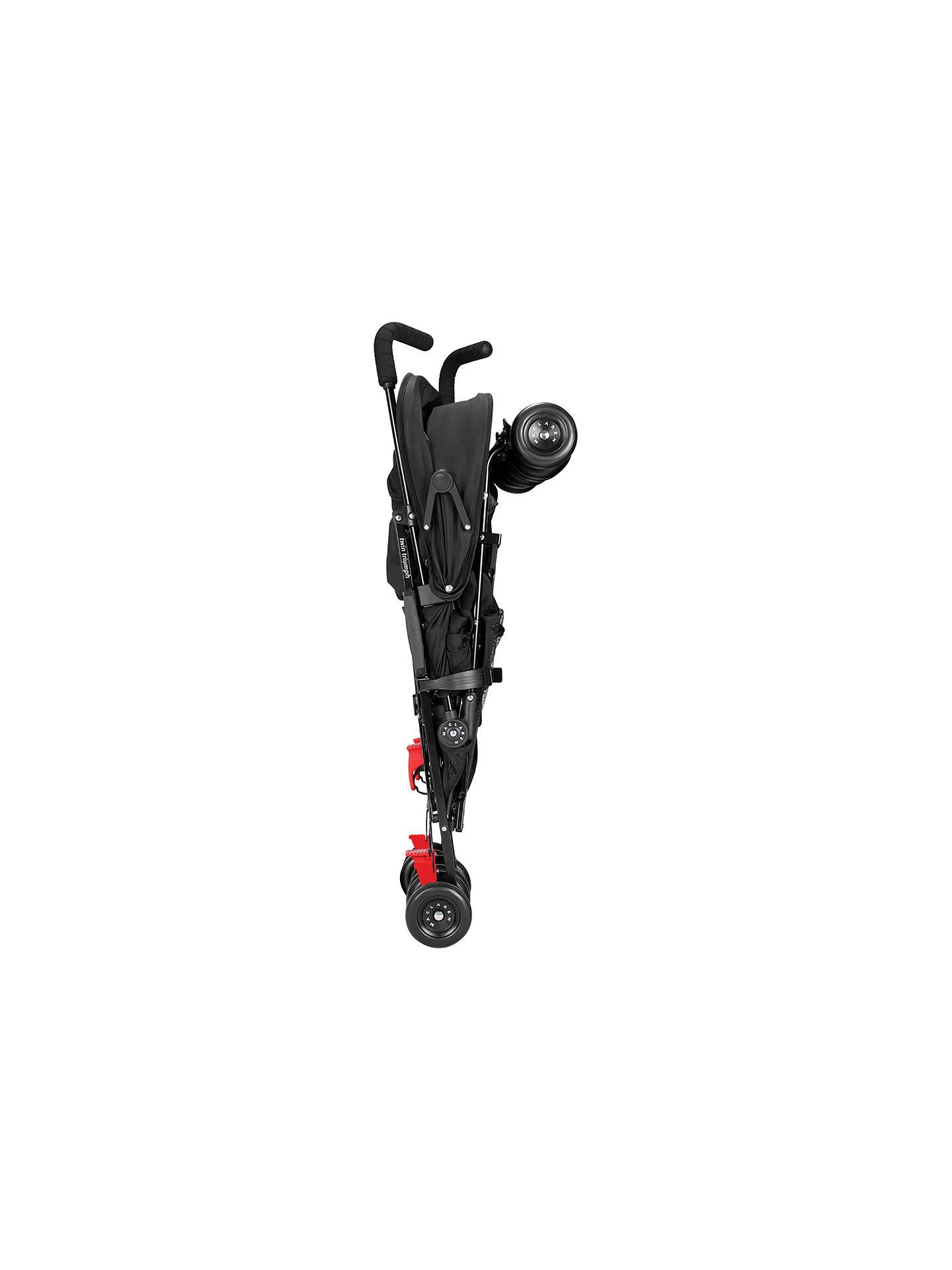 Maclaren Twin Triumph Stroller, Black/Charcoal at John