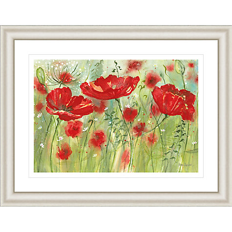 Buy Catherine Stephenson - Red Poppy Maze Framed Print, 90.5 x 70.5cm Online at johnlewis.com