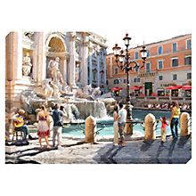 Buy Richard Macneil - Trevi Fountain Print on Canvas, 70 x 100cm Online at johnlewis.com