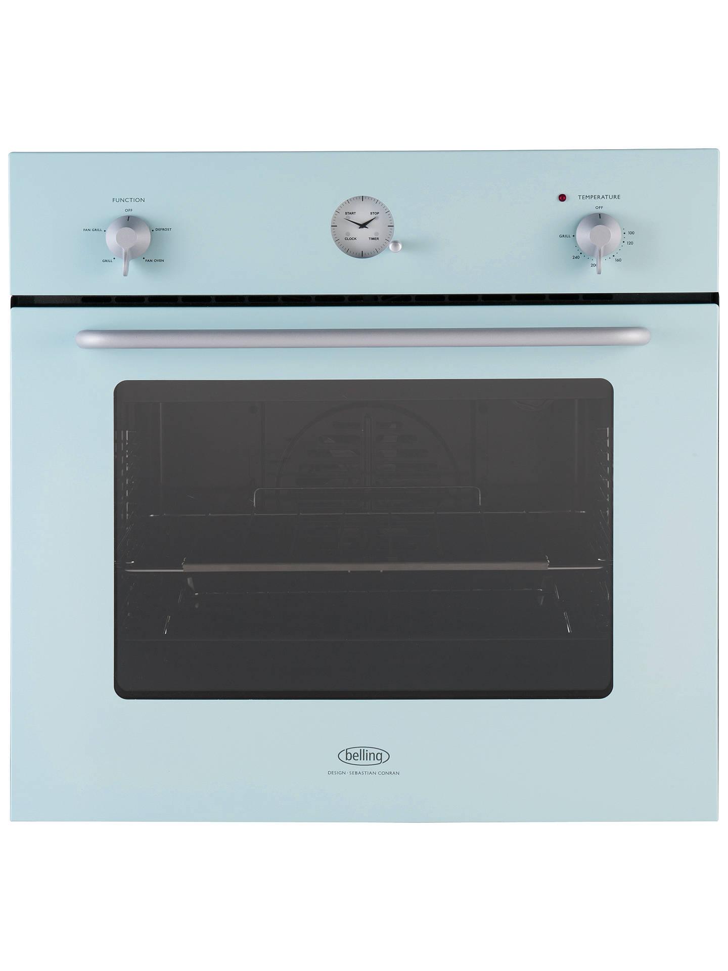 Belling by Sebastian Conran Single Electric Oven, Blue at John Lewis ...