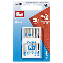 Buy Prym Stretch Sewing Machine Needles, 130/705 75-90, Pack of 5 Online at johnlewis.com