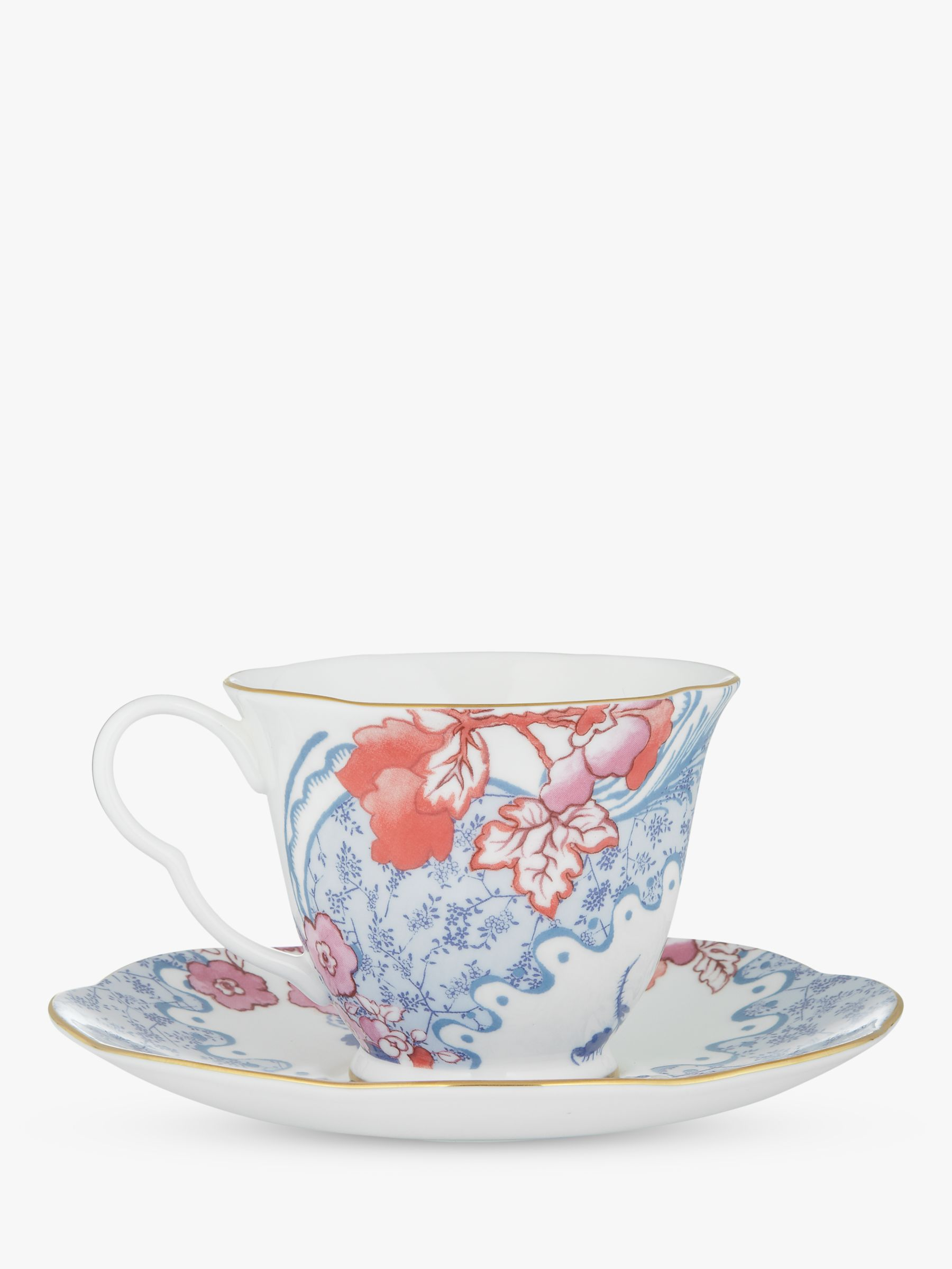 Wedgwood Wedgwood Butterfly Bloom Cup and Saucer Set, Pink/Blue