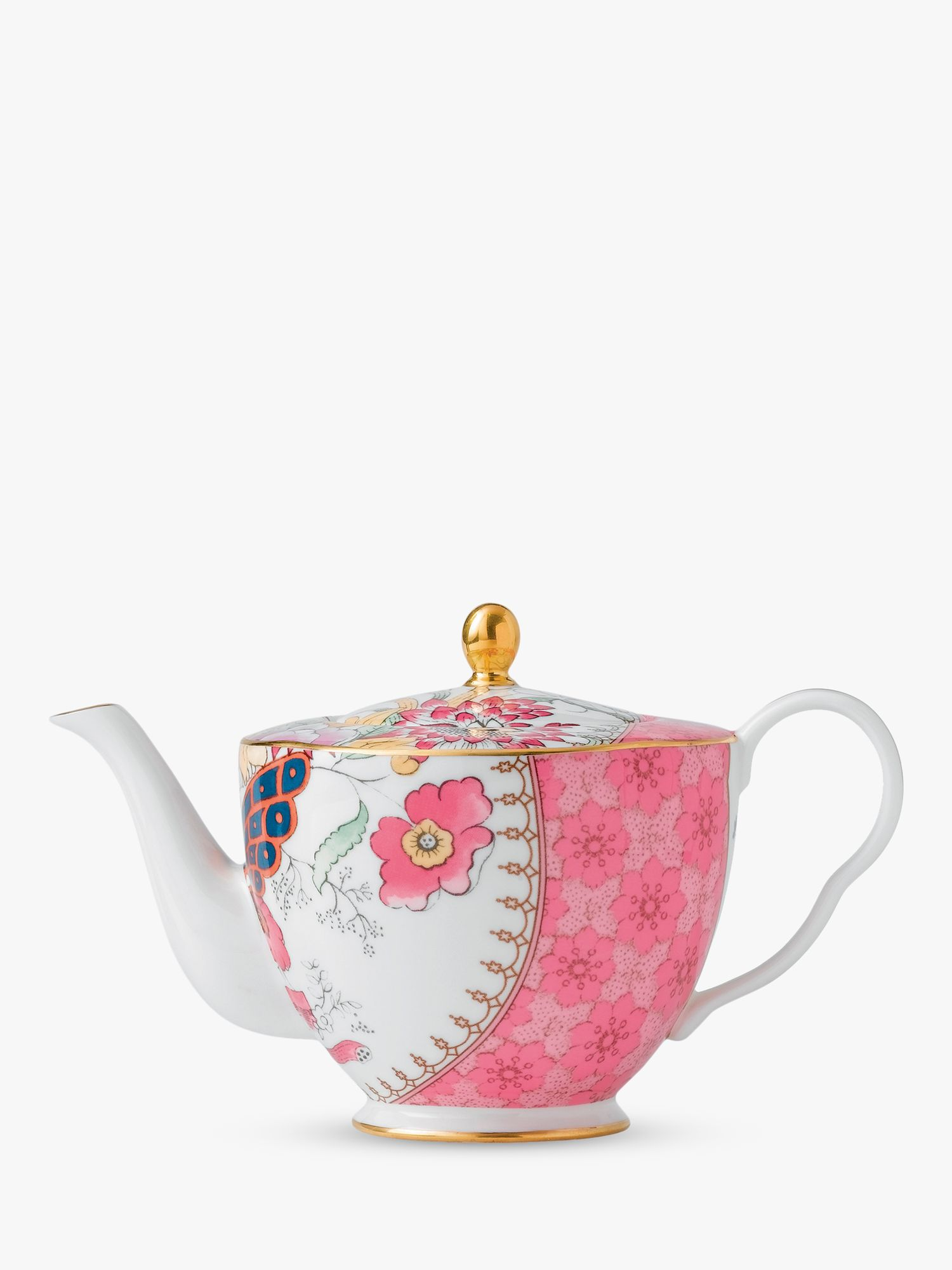 Wedgwood Wedgwood Butterfly Bloom Teapot, Pink, 500ml
