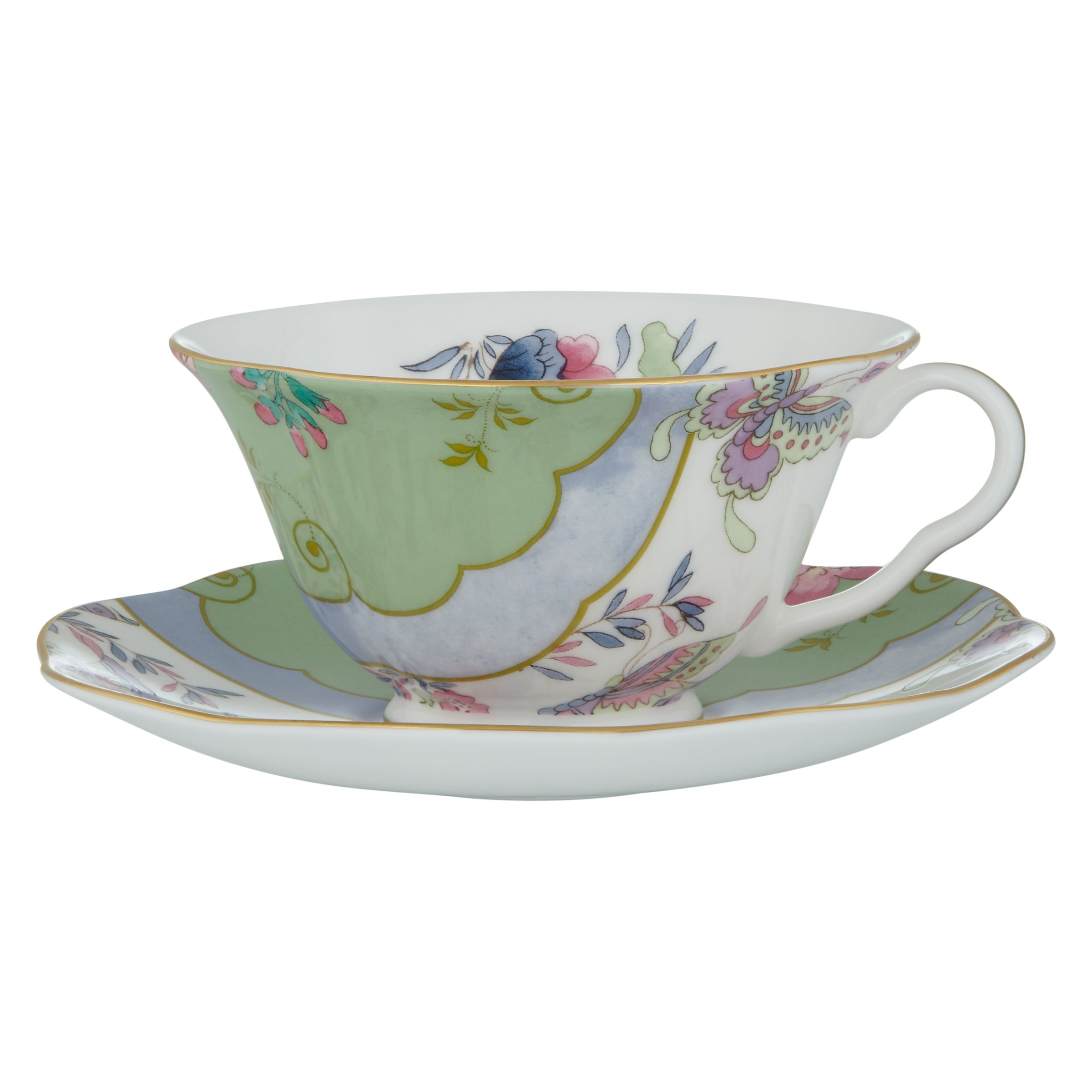 Wedgwood Wedgwood Butterfly Bloom Cup and Saucer Set, Green