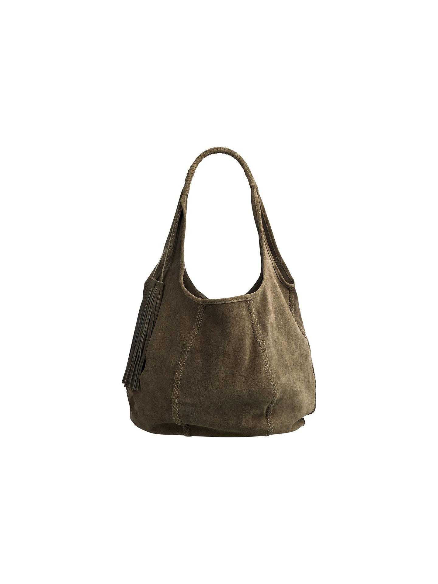 7cd4ba63dbb7 Jigsaw Orla Suede Hobo Bag at John Lewis   Partners