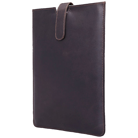 "Buy John Lewis Leather Pouch for Tablets up to 10.1"", Brown Online at johnlewis.com"