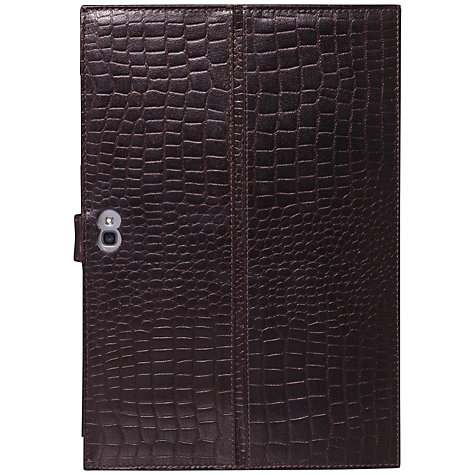 "Buy John Lewis Crocodile Leather Folio for Samsung Galaxy Note 10.1"", Brown Online at johnlewis.com"