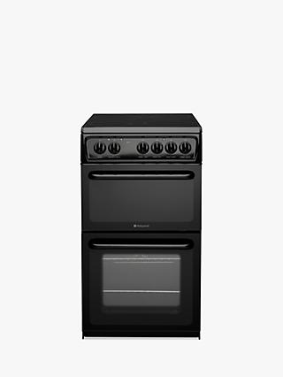 Hotpoint HAE51KS Electric Cooker, Black
