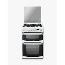 Buy Hotpoint Cannon CH60DHWFS Dual Fuel Cooker, White Online at johnlewis.com