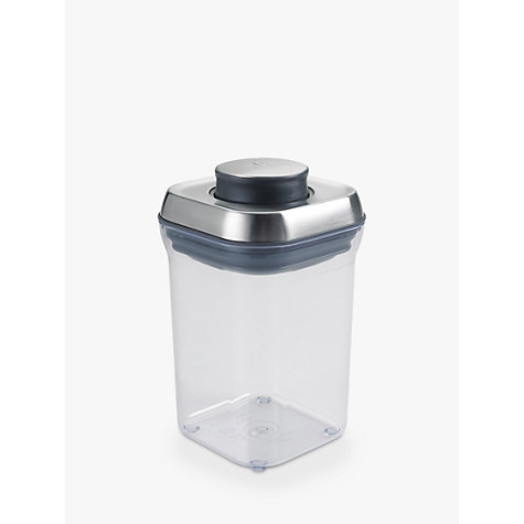 "Buy OXO Good Grips Square ""POP"" Storage Container, Steel, 0.9L Online at johnlewis.com"