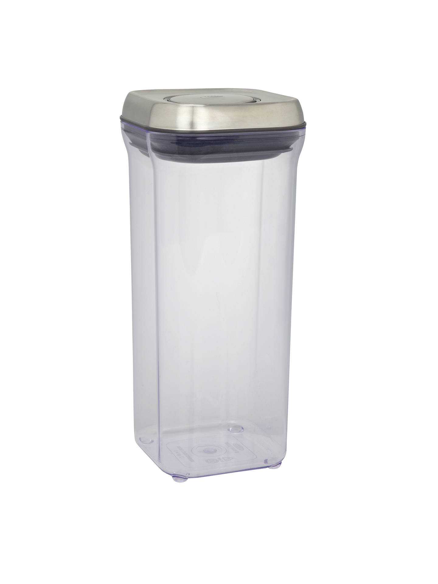 Oxo Good Grips Square Quot Pop Quot Storage Container Steel 1 4l
