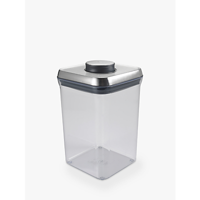 OXO Good Grips Square POP Storage Container, Steel, 3.8L