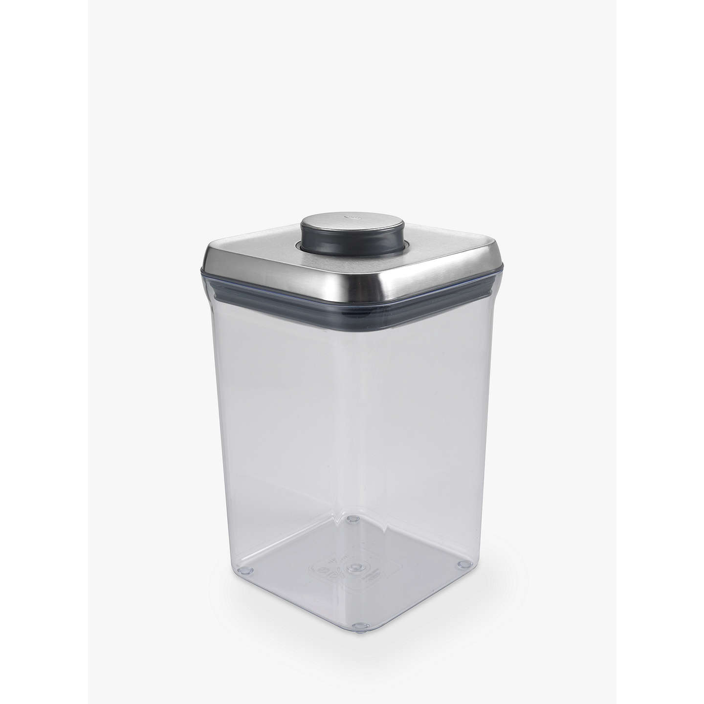 BuyOXO Good Grips Square  POP  Storage Container Steel 3.8L Online at ...  sc 1 st  John Lewis & OXO Good Grips Square